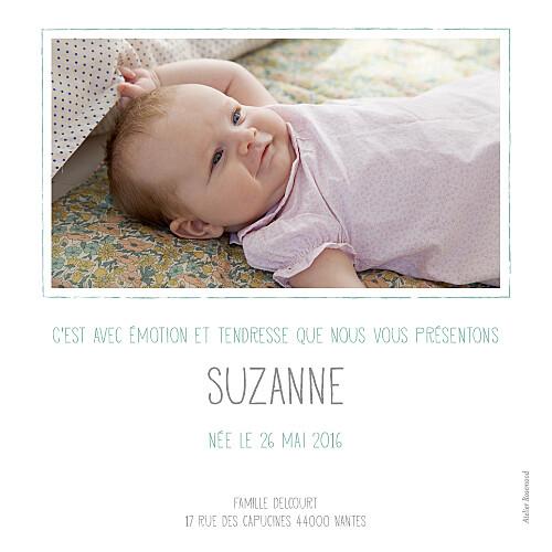 Faire-part de naissance Fleurs du nil photo vert - Page 2