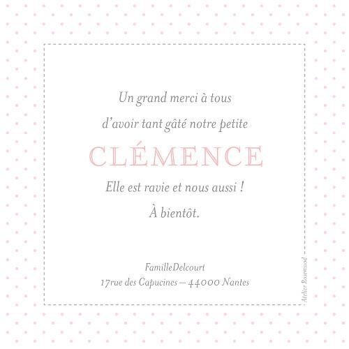 Carte de remerciement Merci pois chics rose - Page 2
