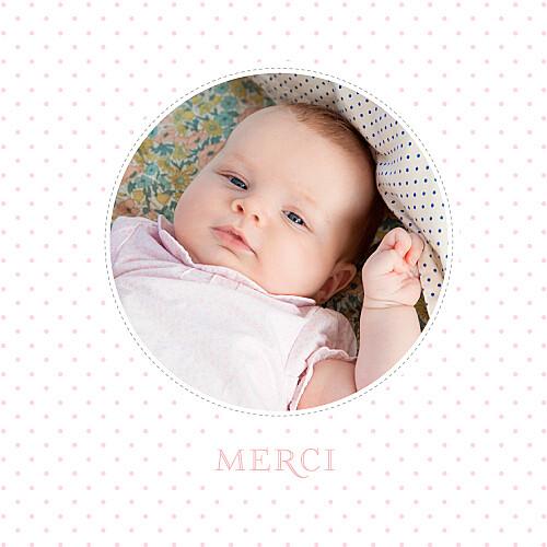 Carte de remerciement Merci pois chics photo rose