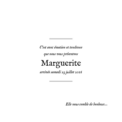 Faire-part de naissance Douceur champêtre photo blanc - Page 3
