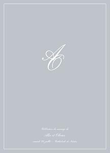 Livret de messe mariage Chic liseré gris clair