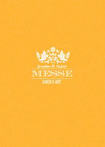Livret de messe mariage jaune papel picado soleil