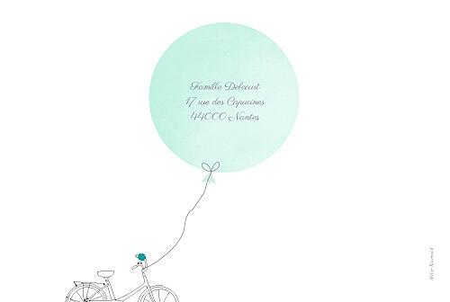 Faire-part de naissance À bicyclette (3 enfants) photos vert - Page 4