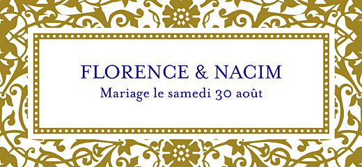 Etiquette perforée mariage Byzance doré