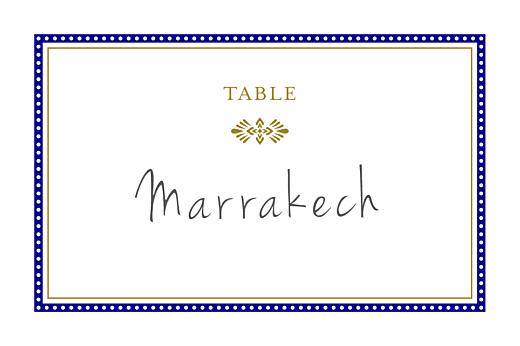 Marque-table mariage Byzance bleu