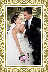 Carte de remerciement mariage clémence gantois byzance photo doré
