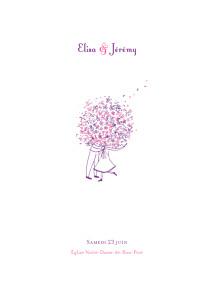 Livret de messe mariage rose bouquet lilas