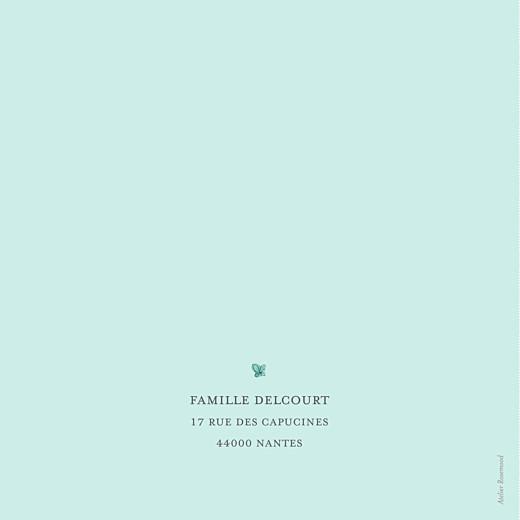 Faire-part de naissance Éléphant aquarelle turquoise - Page 4