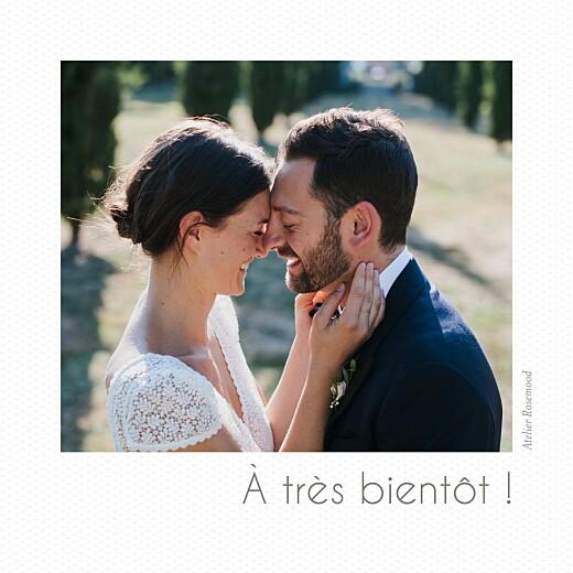Carte de remerciement mariage Petit polaroid (3 photos) blanc - Page 4