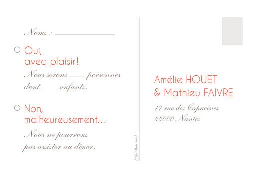 Carton réponse mariage Réjouissance blanc - Page 2