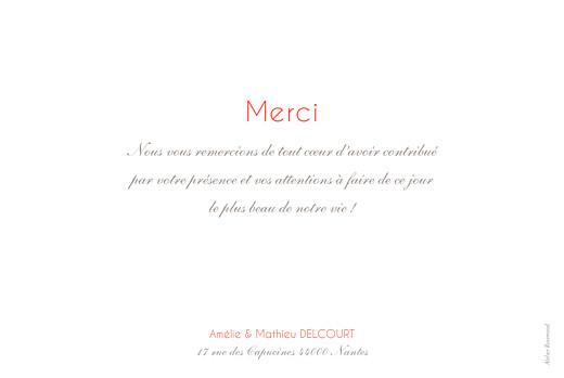 Carte de remerciement mariage Réjouissance blanc - Page 2