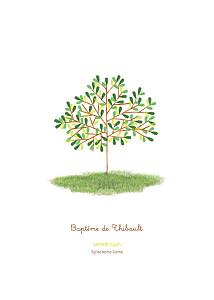 Livret de messe marron arbre vert