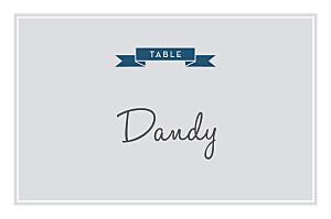 Marque-table mariage gris croisette gris