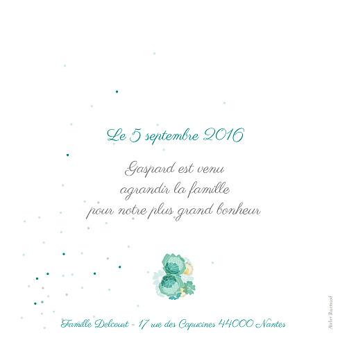 Faire-part de naissance À bicyclette (1 enfant) vert - Page 2