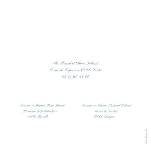 Faire-part de mariage Grand chic liseré bleu - Page 4