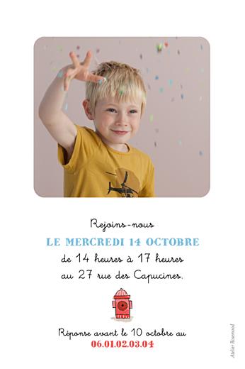 Carte d'anniversaire Pompier rouge - Page 2