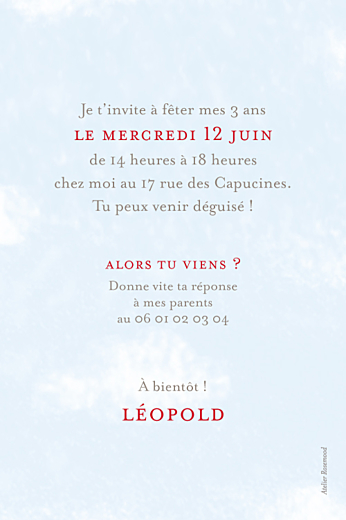 Carte d'anniversaire Avion rouge - Page 2