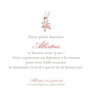 Carte d'anniversaire classique pirouette photo rose