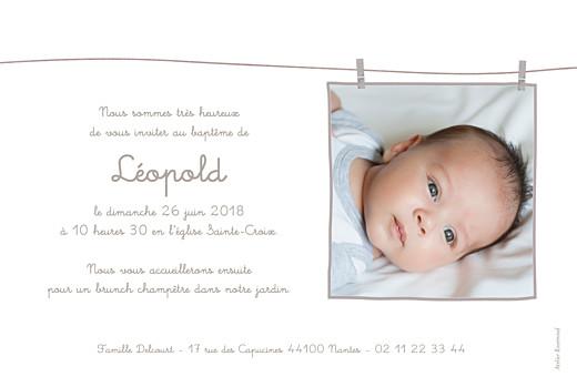 Faire-part de baptême Linge peluche photo taupe - Page 2