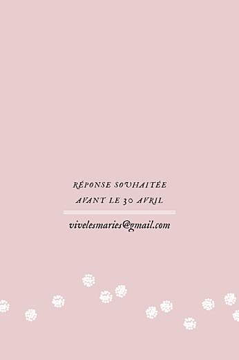Carton d'invitation mariage Instant fleuri rose - Page 2