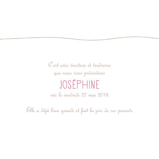 Faire-part de naissance Poétique (triptyque) rose - Page 2