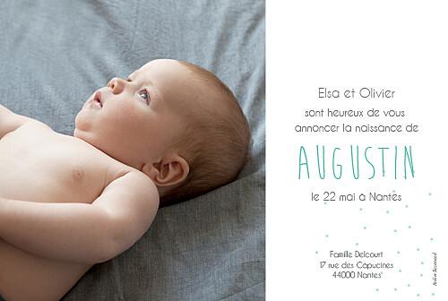 Faire-part de naissance Lovely boy photo blanc - Page 2