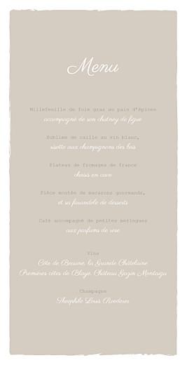 Menu de mariage À pieds joints (4 pages) taupe - Page 3