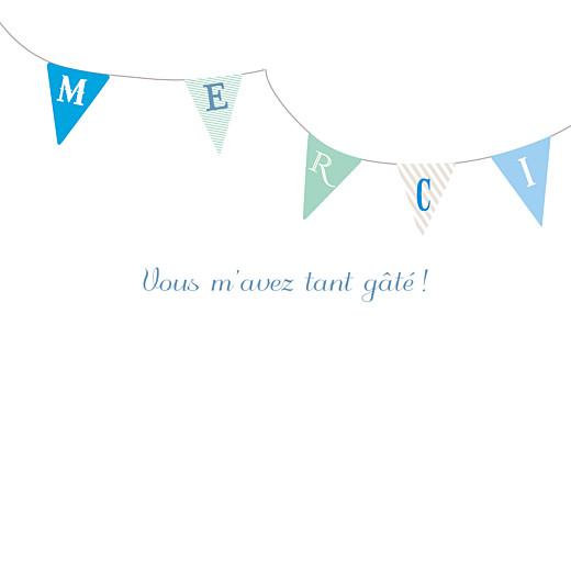 Carte de remerciement Petits fanions bleu taupe
