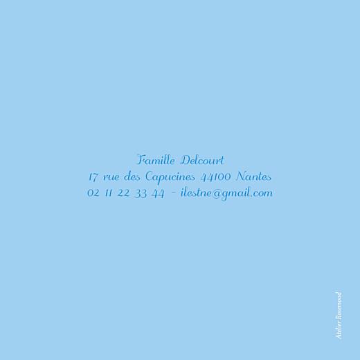 Carte de remerciement Petits fanions bleu taupe - Page 2