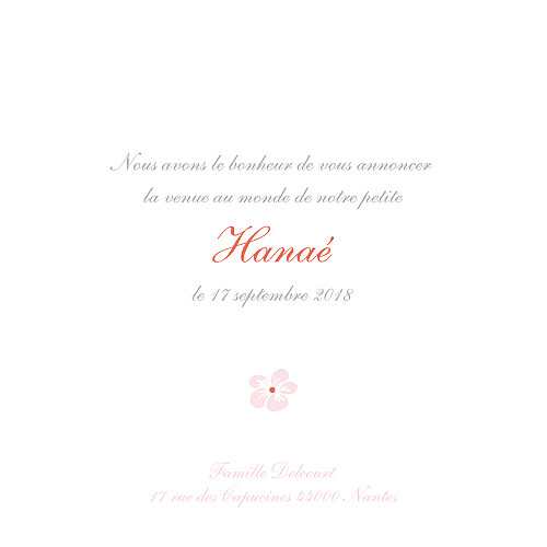 Faire-part de naissance Cerisiers en fleurs (3 photos) rose - Page 3