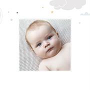 Faire-part de naissance Dans le ciel (triptyque) bleu page 6