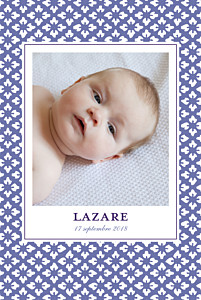 Faire-part de naissance violet on dirait le sud... (portrait) indigo
