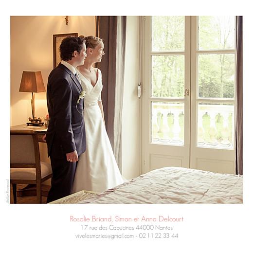 Carte de remerciement mariage Moderne photos (triptyque) blanc - Page 3