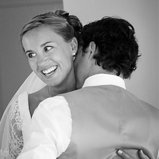 Carte de remerciement mariage Plein la vue (triptyque) blanc - Page 4