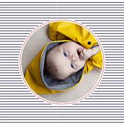 Faire-part de naissance Petit matelot (triptyque) bleu & rouge page 3