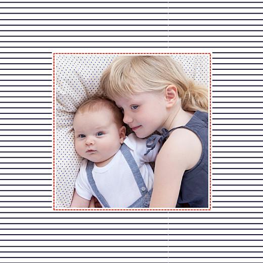 Faire-part de naissance Petit matelot (triptyque) bleu & rouge - Page 4