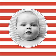 Faire-part de naissance Petit matelot (triptyque) bleu & rouge page 5