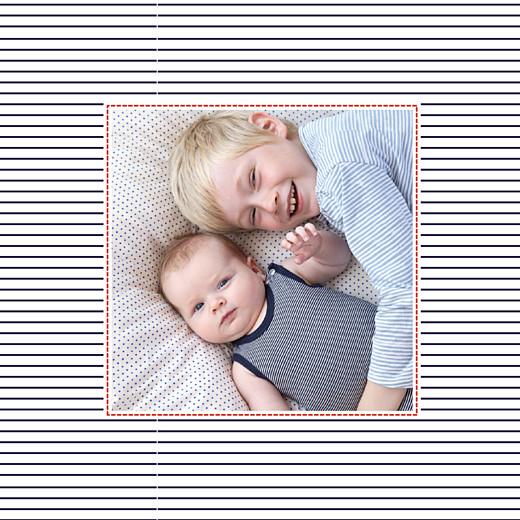 Faire-part de naissance Petit matelot (triptyque) bleu & rouge - Page 6