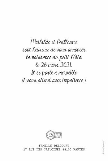 Faire-part de naissance Pictos ardoise noir - Page 2