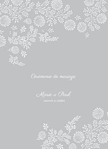 Livret de messe mariage gris idylle gris
