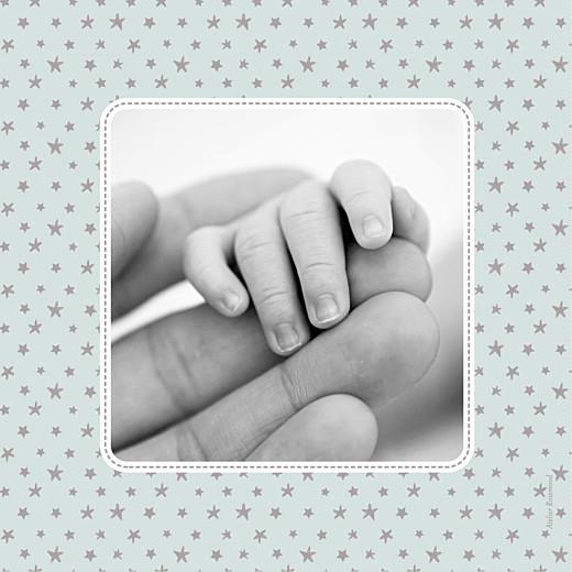 Faire-part de naissance Nuit étoilée (triptyque) jade - Page 6