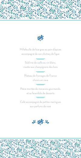 Menu de mariage Simplement liberty (4 pages) bleu - Page 3