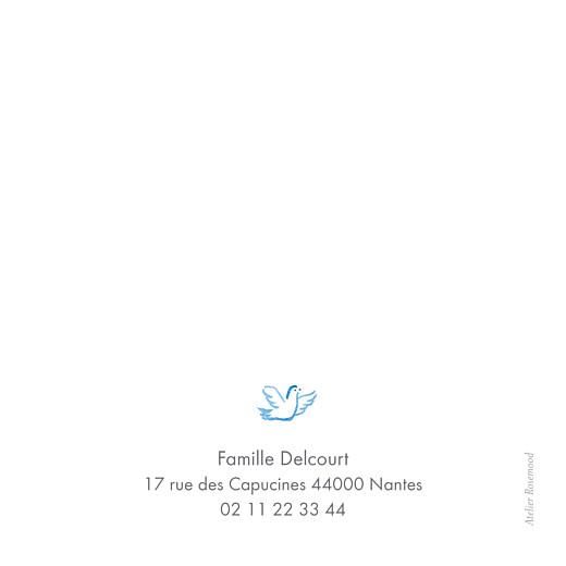 Carte de remerciement Merci colombes bleu - Page 2