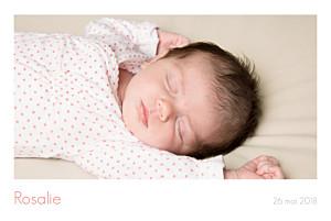 Faire-part de naissance marianne fournigault simple 3 photos paysage blanc