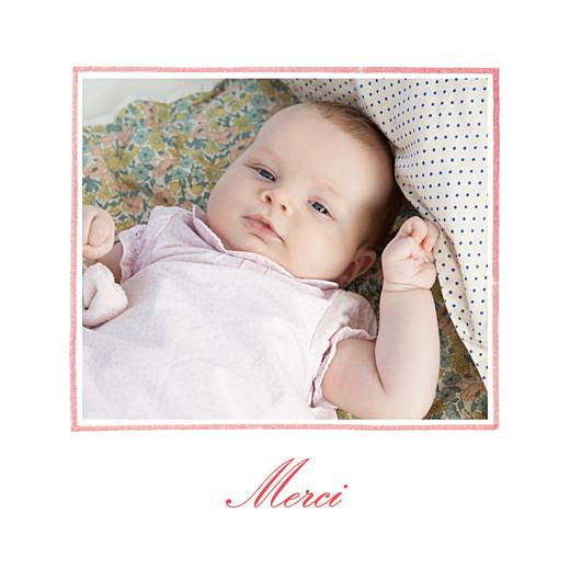 Carte de remerciement Merci pirouette photo rose - Page 2