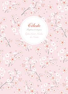 Livret de messe tous genres cerisiers en fleurs rose