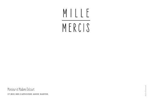 Carte de remerciement mariage Toi & moi (cadre 3 photos) blanc - Page 2