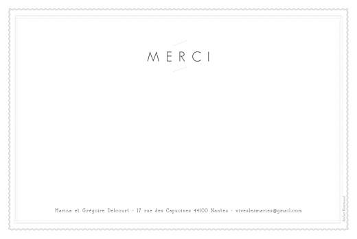 Carte de remerciement mariage Design blanc - Page 2