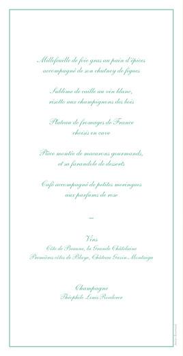 Menu de mariage Chic liseré vert - Page 2