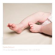 Faire-part de naissance Simple 5 photos (triptyque) blanc page 3